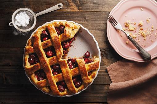 Cherry「Freshly Baked Cherry Pie with Lattice Top」:スマホ壁紙(6)