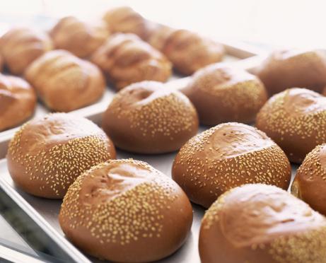Bakery「Freshly baked rolls with sesame seeds」:スマホ壁紙(15)