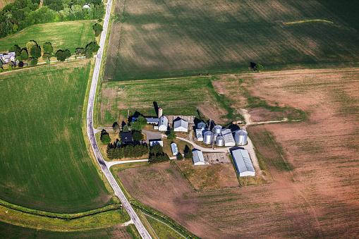 Illinois「Farm in Northern Illinois, from above」:スマホ壁紙(12)