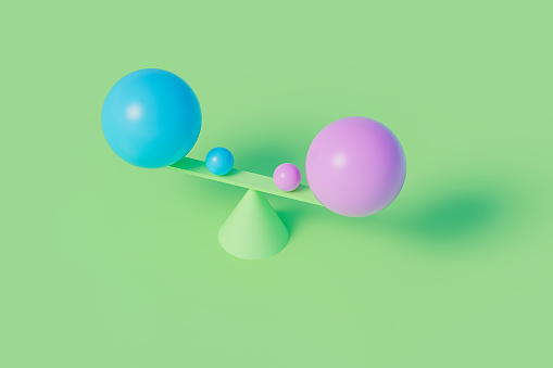 Gender Symbol「Sperical shapes balancing on a seesaw」:スマホ壁紙(18)