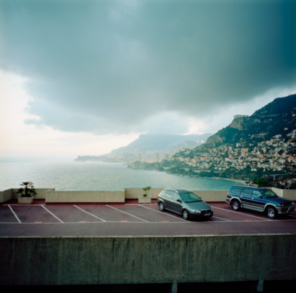 Parking Lot「Cars in parking lot with Monaco harbour」:スマホ壁紙(18)