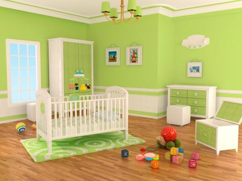 子供時代「Nursery ルーム(緑)」:スマホ壁紙(17)