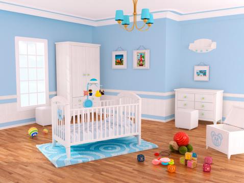 子供「Nursery ルーム(ブルー)」:スマホ壁紙(4)