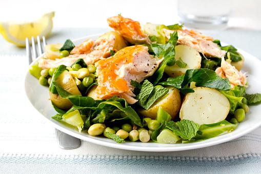Salad「Salmon salad on decorated table」:スマホ壁紙(11)