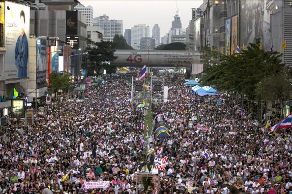 Anti-Government「Thai Protestors Attempt To Topple Government With Bangkok Shutdown」:写真・画像(12)[壁紙.com]