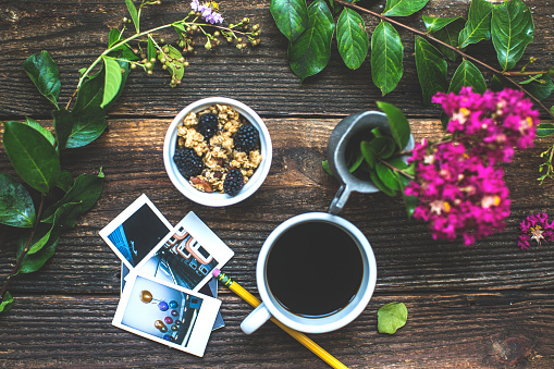 Instant Print Transfer「Morning breakfast coffee lifestyle still life conceptual photography background.」:スマホ壁紙(15)