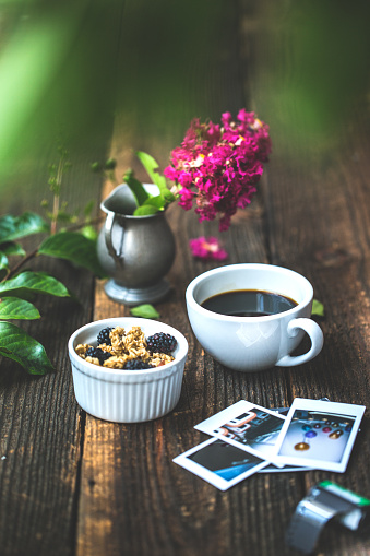 Instant Print Transfer「Morning breakfast coffee lifestyle still life conceptual photography background.」:スマホ壁紙(17)