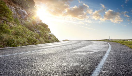 Dividing Line - Road Marking「Sunny Cliff Road」:スマホ壁紙(7)