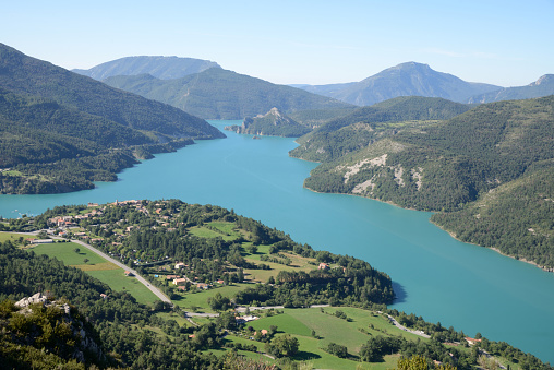 Alpes-de-Haute-Provence「View over Castillon Lake and Village of Saint-Julien-du-Verdon」:スマホ壁紙(7)