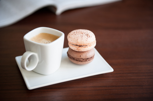 Coffee Break「French macaroons with cup of espresso」:スマホ壁紙(1)