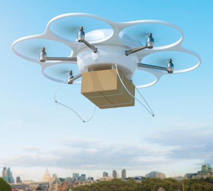 Aircraft「配送ドローンパッケージで、都市用」:スマホ壁紙(14)