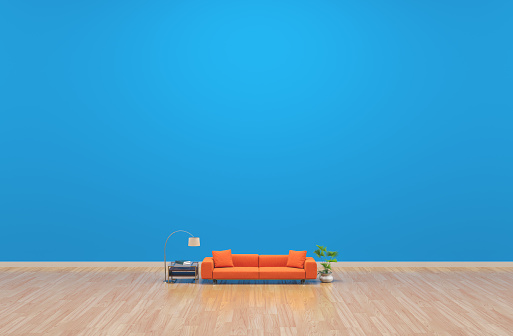 Orange Color「Miniature living room concept」:スマホ壁紙(11)