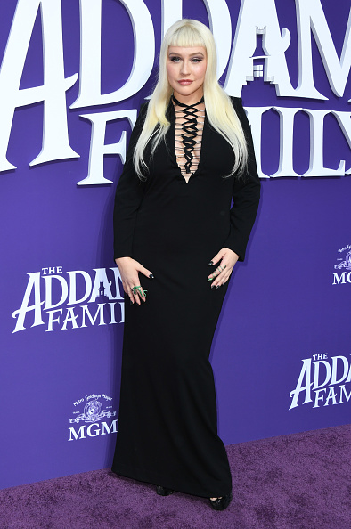 """Christina Aguilera「Premiere Of MGM's """"The Addams Family"""" - Arrivals」:写真・画像(18)[壁紙.com]"""