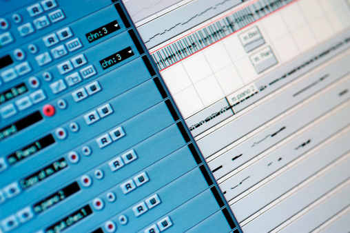 Rock Music「Sound mixer, close-up」:スマホ壁紙(2)