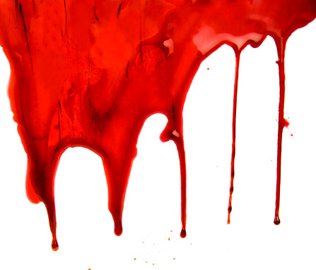 2000-2009「Blood Dripping on White Background」:スマホ壁紙(17)