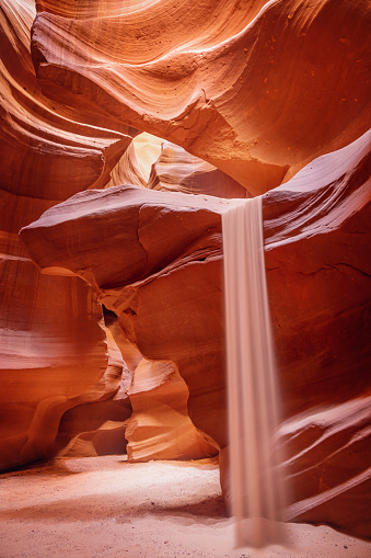 Sand Trap「Antelope Canyon Sand Fall Page Arizona USA」:スマホ壁紙(17)