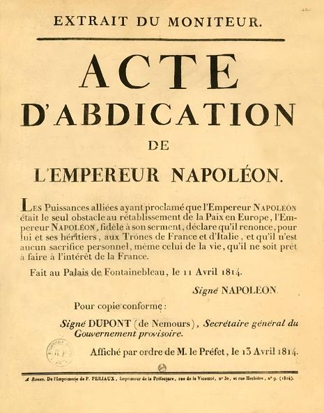 Document「Notice Announcing The Emperor Napoleons Abdication」:写真・画像(18)[壁紙.com]