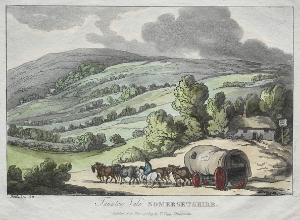 Hand Colored「Rowlandsons Sketches From Nature: Taunton Vale,」:写真・画像(19)[壁紙.com]