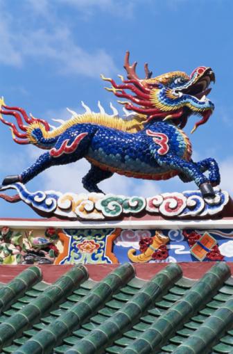 Dragon「Malaysia, Sarawak, Kuching, Hong San Si Temple, dragon, side view」:スマホ壁紙(4)