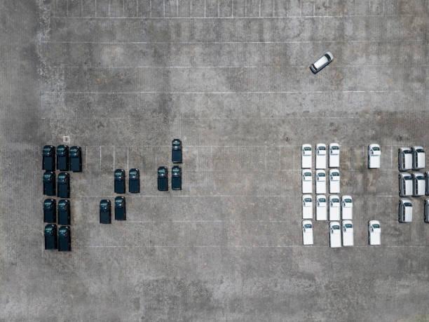 Indonesia, Bali, Aerial view of car park:スマホ壁紙(壁紙.com)
