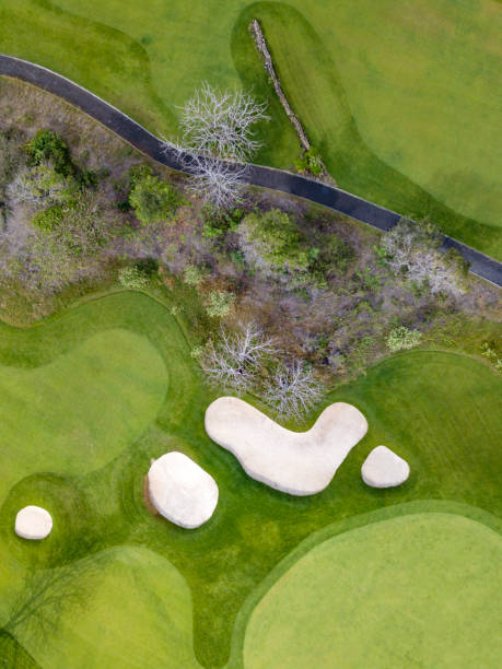 Indonesia, Bali, Aerial view of golf course:スマホ壁紙(壁紙.com)