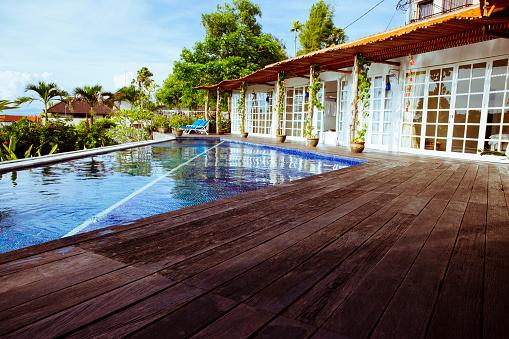Villa「Indonesia, Bali, swimmingpool and terrace of a holiday villa」:スマホ壁紙(11)