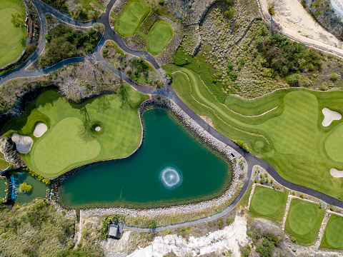 Sand Trap「Indonesia, Bali, golf course at Payung beach」:スマホ壁紙(12)