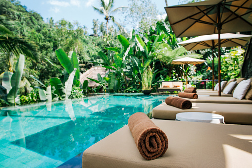 Tourist Resort「Indonesia, Bali, tropical swimming pool」:スマホ壁紙(13)