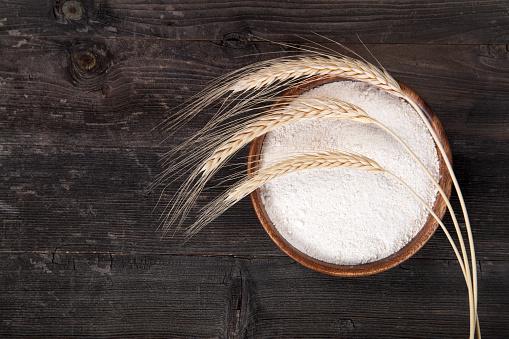 Rye - Grain「Flour and wheat ears」:スマホ壁紙(11)