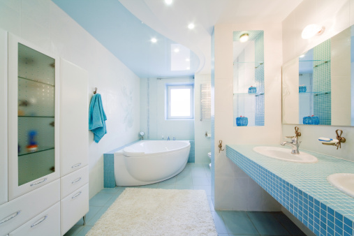 Wide Angle「Bathroom. Modern luxury interior」:スマホ壁紙(15)
