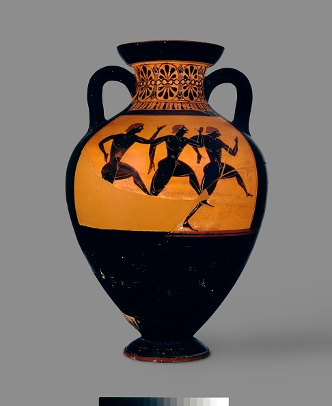 Ancient Greece「Attic Black-Figure Panathenaic Amphora With Depiction Of (A) Athena And Hermes Between Columns Crown Artist: Unknown.」:写真・画像(6)[壁紙.com]
