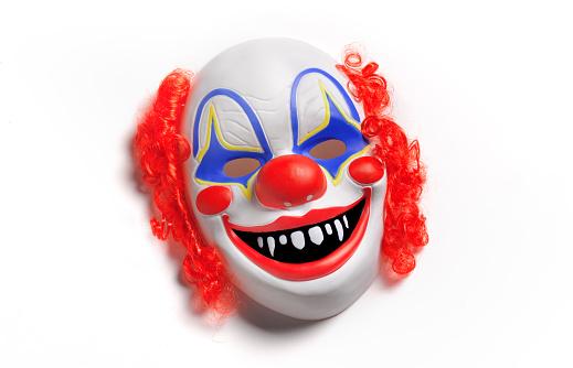Evil「Clown Mask on white background」:スマホ壁紙(2)
