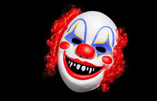 Evil「Clown Mask on black background」:スマホ壁紙(17)