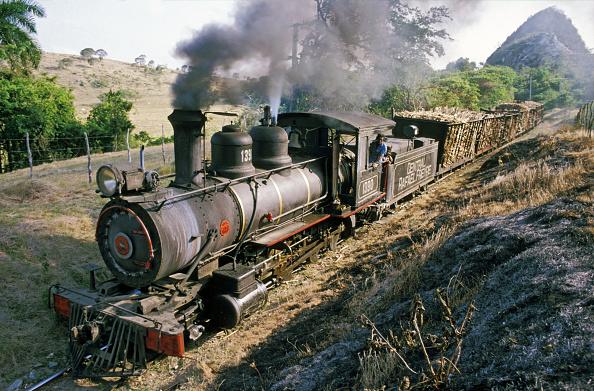 Rake「A 2'6'' gauge Baldwin 2-8-0 high balls a rake of loaded cane along the Arroyo Blanca line at the Raphael Freyre Sugar Mill in Cuba's Holguin Province on Monday 18 April 1988.」:写真・画像(17)[壁紙.com]