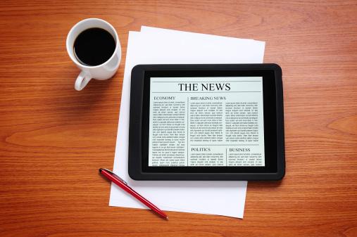 Touch Screen「News on digital tablet」:スマホ壁紙(1)