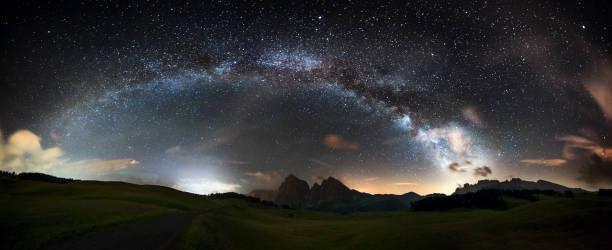 Arc of the Milky Way - Panorama XXL:スマホ壁紙(壁紙.com)