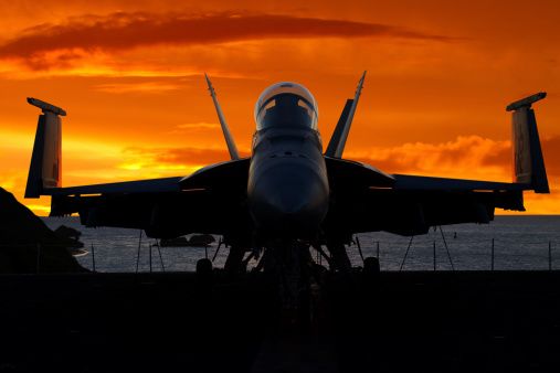 Military Ship「Fighter Plane at Sunrise」:スマホ壁紙(13)