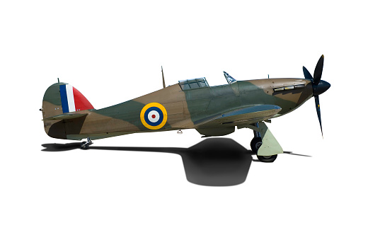 RAF「WWII fighter plane with clipping path」:スマホ壁紙(15)