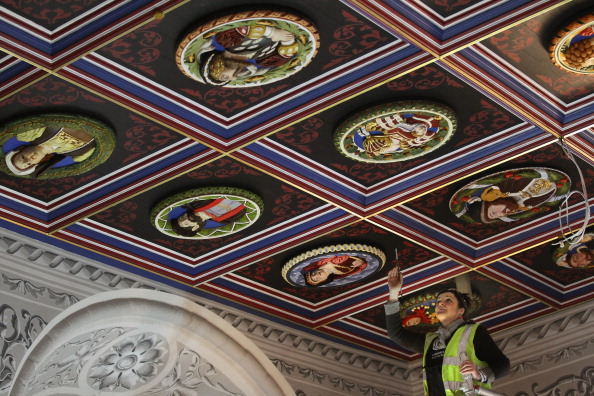 Ceiling「The Recreation Of The Stirling Heads Installed At Stirling Castle」:写真・画像(15)[壁紙.com]