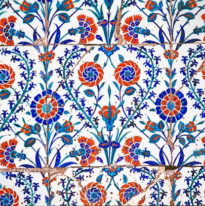 Floral Pattern「Iznik tiles in Blue Mosque」:スマホ壁紙(15)