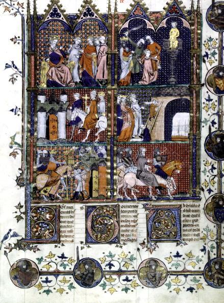 大量殺人「The first crusade (1096-1099) : the capture of Jerusalem by Turcs, massacre of christian people, illumination, 14th century」:写真・画像(5)[壁紙.com]