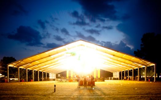 Music Festival「Deserted music tent after the show」:スマホ壁紙(2)