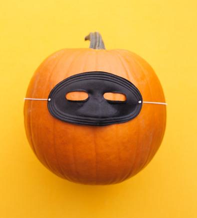 ハロウィン 仮装「Pumpkin with mask」:スマホ壁紙(19)