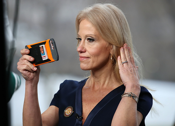 Outdoors「Kellyanne Conway Speaks To Morning Shows From Front Lawn Of White House」:写真・画像(16)[壁紙.com]