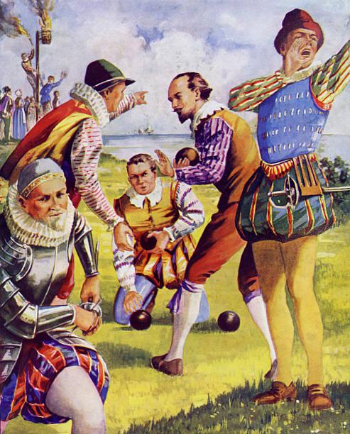 Francis Drake playing bowls before the Spanish Armada:ニュース(壁紙.com)