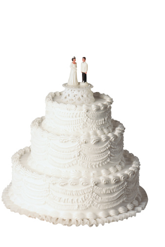 Married「Wedding cake with bride and groom figurines」:スマホ壁紙(8)