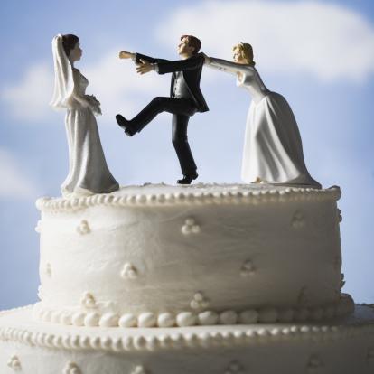 Dishonesty「Wedding cake visual metaphor with figurine cake toppers」:スマホ壁紙(11)