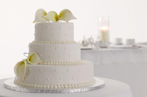 Formalwear「Wedding cake with flowers」:スマホ壁紙(7)