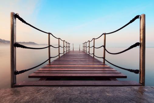 Footbridge「Wooden Jetty At Sunrise」:スマホ壁紙(9)
