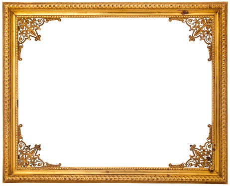 Baroque Style「Gold frame isolated on white」:スマホ壁紙(19)